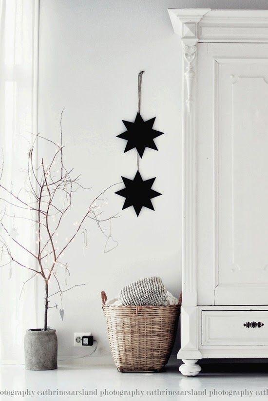 white | christmas | black | stars | nordic | minimalist