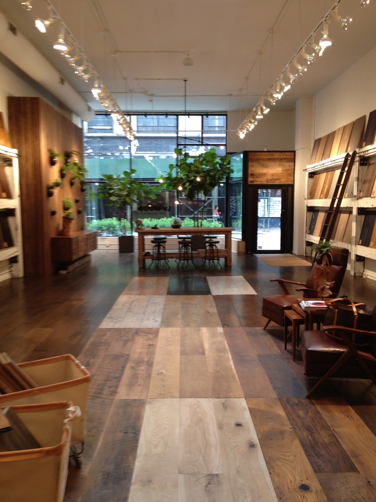 lv wood a floor shopping sanctuary in the flatiron On showroom flooring ideas