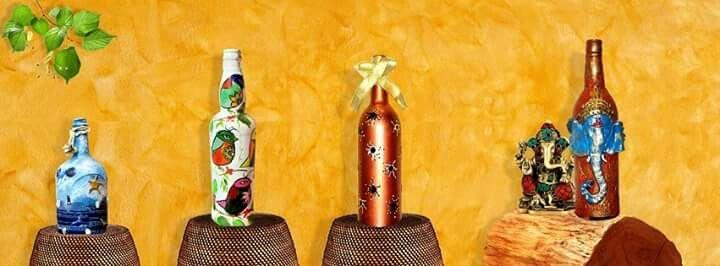 Baatliwali,,exquisite hand painted bottles