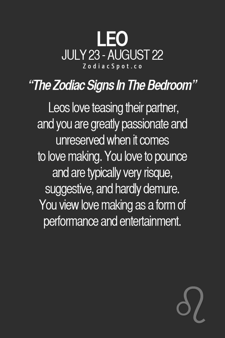 How would your sign be in the bedroom