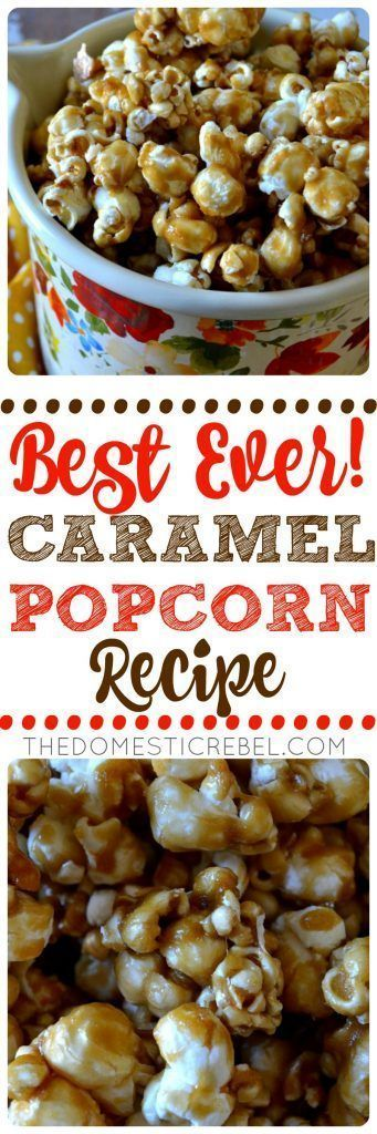 This BEST-EVER Caramel Popcorn is SO perfect! Easy to make, yields a HUGE batch, is great for gifts and perfect for snacking. Buttery, crispy, crunchy, sweet  salty perfection! Healthy game movie gluten free girls ideas date late carvings fight poker triva ladies guys friday burns hens saturday easy photography party boys market quotes cooking mornings ovens kids one port peanut butter cheese meat low carb suces friends veggies chocolate chips sweets vegans oats recipes weight loss buz...