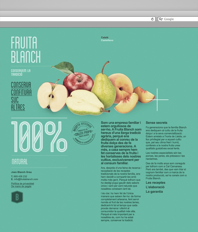 strong web design.  -love the typography  -hierarchy of text  -simple effective image  -layout is simplistic and organized, very easy on the eye  -good navigation  -pretty color palette, very engaging