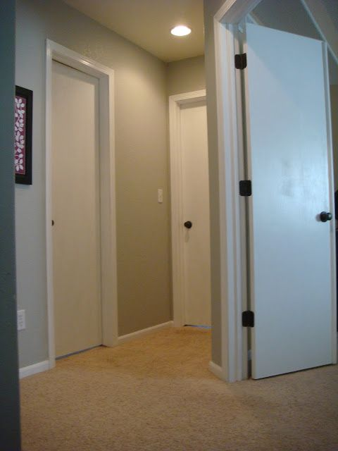 Honey Oak Painting Doors White, Like The Wall Color Too | For The