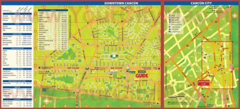 Подробная туристическая карта города Канкун