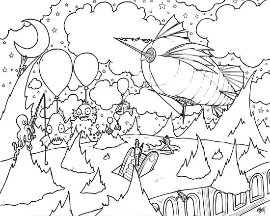 steampunk coloring pages google search - Psychedelic Hippie Coloring Pages