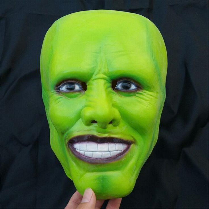 Halloween Party Cosplay Details Loki latex mask Jim Carrey Costume Fancy Dress Famous Movie Film Props 'The Mask