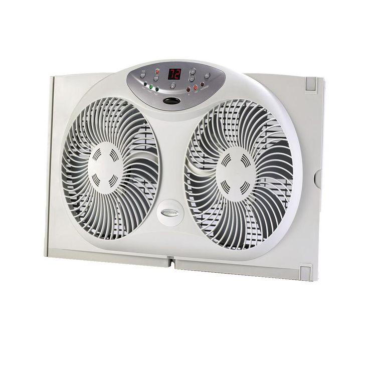 Bionaire 9 in twin window fan with remote control