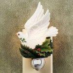 Interior Christmas Decorating Style – White Christmas Dream – Peace Dove Nightlight