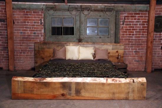 Sugar pine slab bed