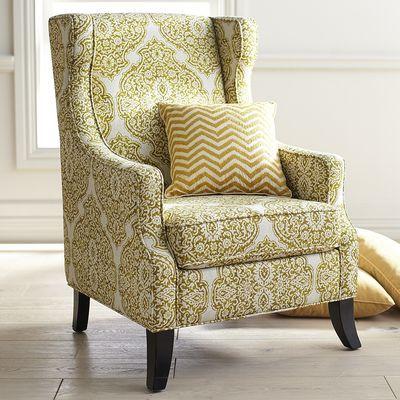 Alec Wing Chair - Citron