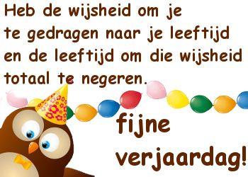 grappige verjaardagswens op Feest-Plaatjes.nl