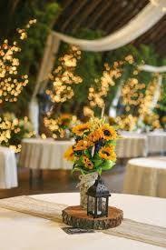 Resultado de imagen para centros de mesa con girasoles