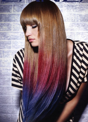 Chalking Hair:  1. Damp Hair  2. Use chalk and color hair going DOWNWARD.(Going upward may cause split ends)  3. Blow-dry hair.        Hope you guys will try it!!!!!!!