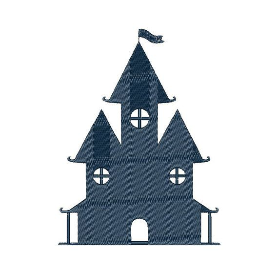 Castle - Machine Embroidery Design - Instant Download - Three sizes