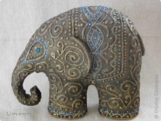 Поделка изделие Папье-маше Слонотворение Бисер Бумага Клей Краска Салфетки фото 17