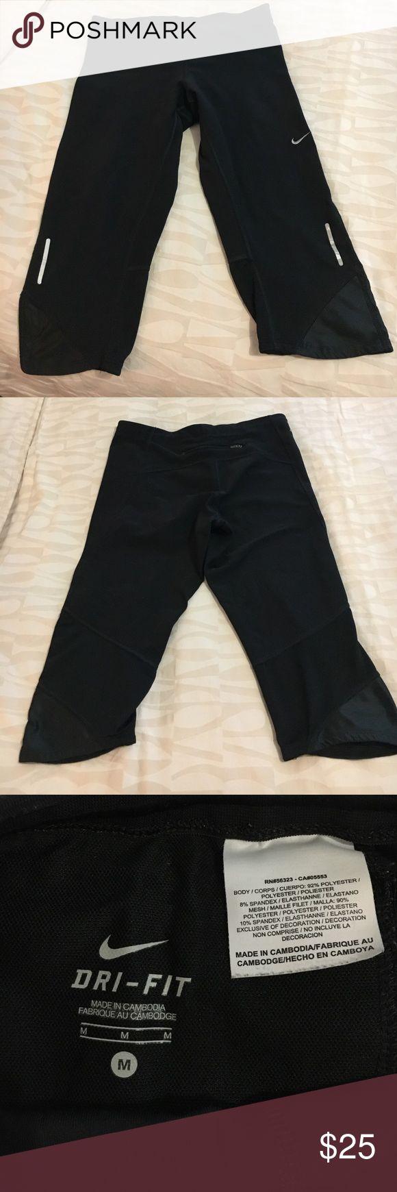 Nike dri-fit training capris Nike dri-fit training capris. Black. Good condition Nike Pants Leggings