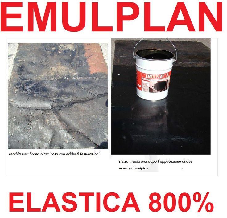 20 KG GUAINA LIQUIDA BITUMINOSA SUPER ELASTICA 800% IN PASTA IMPERMEABILIZZANTE