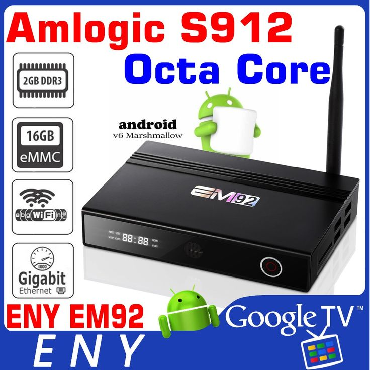 download hindi video hd songs Smart TV Box Amlogic S912 Octa Core Google Android 6.0 marshmallow EM92 tv box