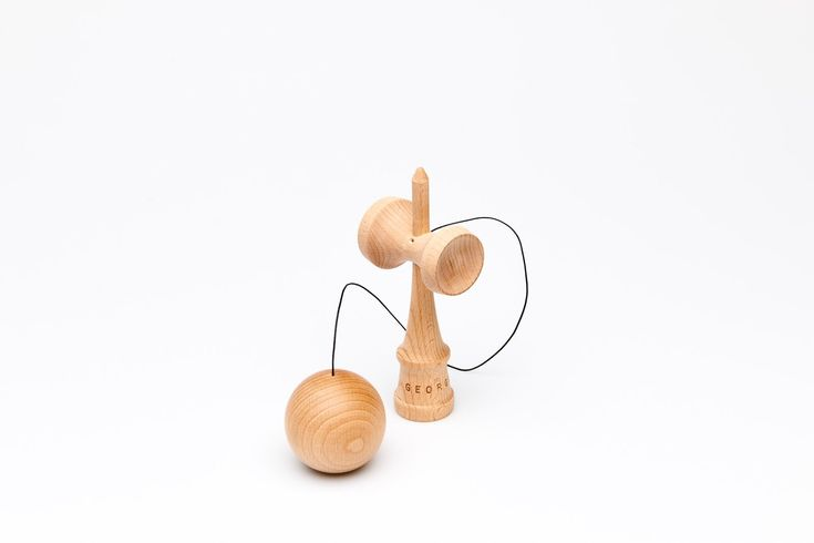 Kendama. A traditional wooden Japanese toy, crafted from Beech wood and string. For more information head over to our website www.georgeandwilly.com