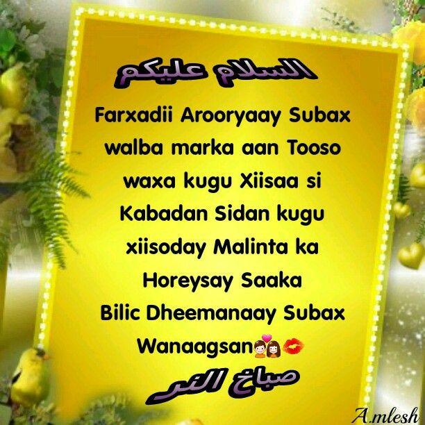 Subax Wanagsan Farxadii Arooyaay