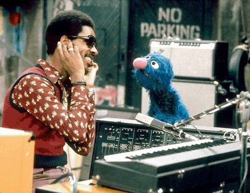 Today 4-12 in 1973: Stevie Wonder becomes one of the first rock stars to appear on PBS-TV's Sesame Street.