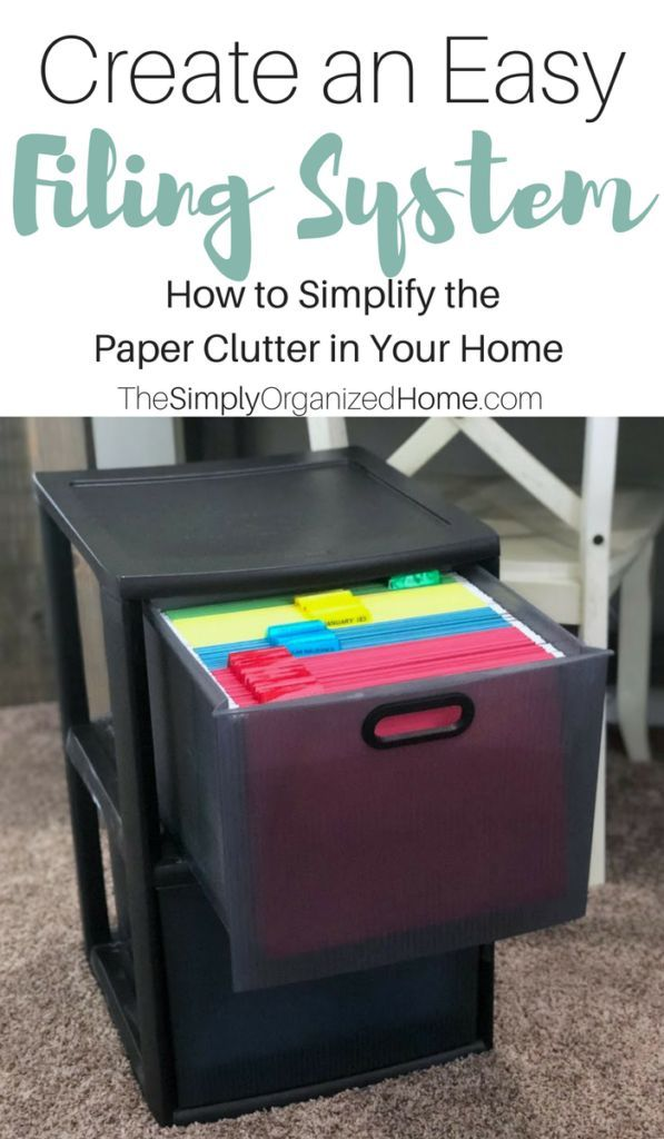 A Simple Filing System Guide Filing System Home Filing System