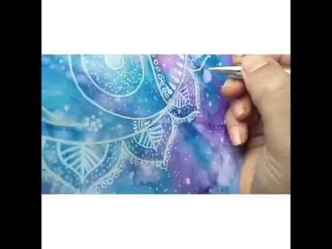 Jagannath on galaxy cosmic background - YouTube https://artaurabynagashree.wordpress.com/ #jagannath #isckon #watercolor #paintpen #mandala #whitegelpen #galaxy #cosmic