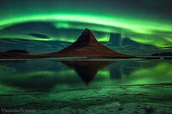 Северное сияние, Рейкьявик,Исландия