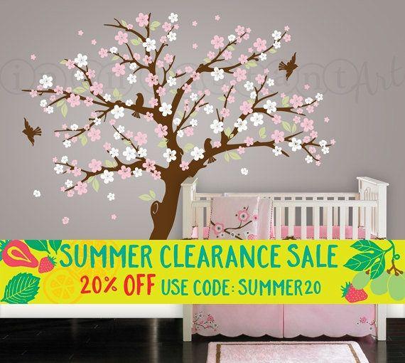 Cherry Blossom Tree Wall Decal Blossom Tree for Baby Nursery