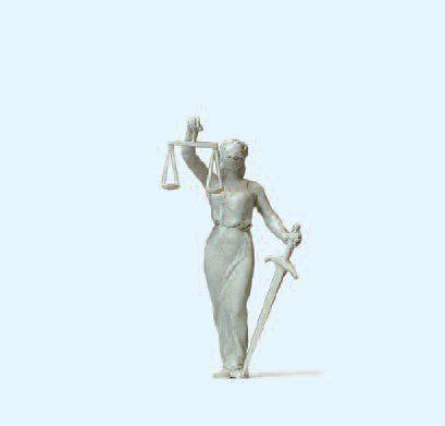 Preiser Vrouwe Justitia, 1 figuur, Schaal H0
