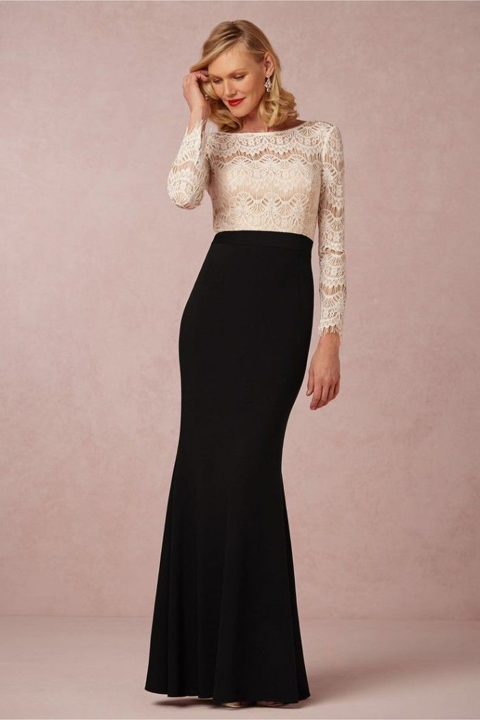Irina, an elegant black and white gown for mothers of the bride or mothers of the groom