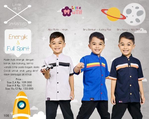 Baju Anak Little Mutif Boy LMB-12