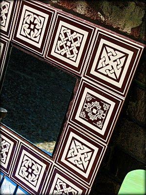 Dollar Store Crafts » Blog Archive » Make a Tile-Framed Mirror