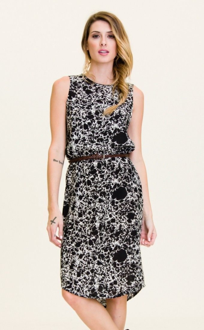 The Warp Driver midi length dress by RVCA