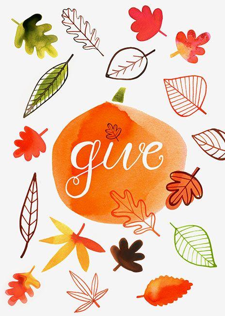 Margaret Berg Art: Give Thanks Fall Leaves