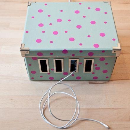#idea #range câbles #box #boîte de rangement #chargeur #bureau #desk organizer