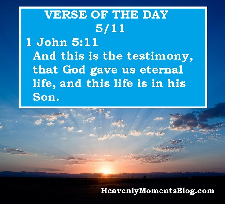 VERSE OF THE DAY 5/11: 1 John 5:11 And this is the testimony, that God gave us eternal life, and this life is in his Son.  #Christ #Christian #Christianity #Jesus #JesusChrist #religion #spiritual #spirit #Holy #Bible #quote #scripture #verse #verseoftheday #BibleVerse #blog #mom #mother #moms #mothers #women #woman #wife #house