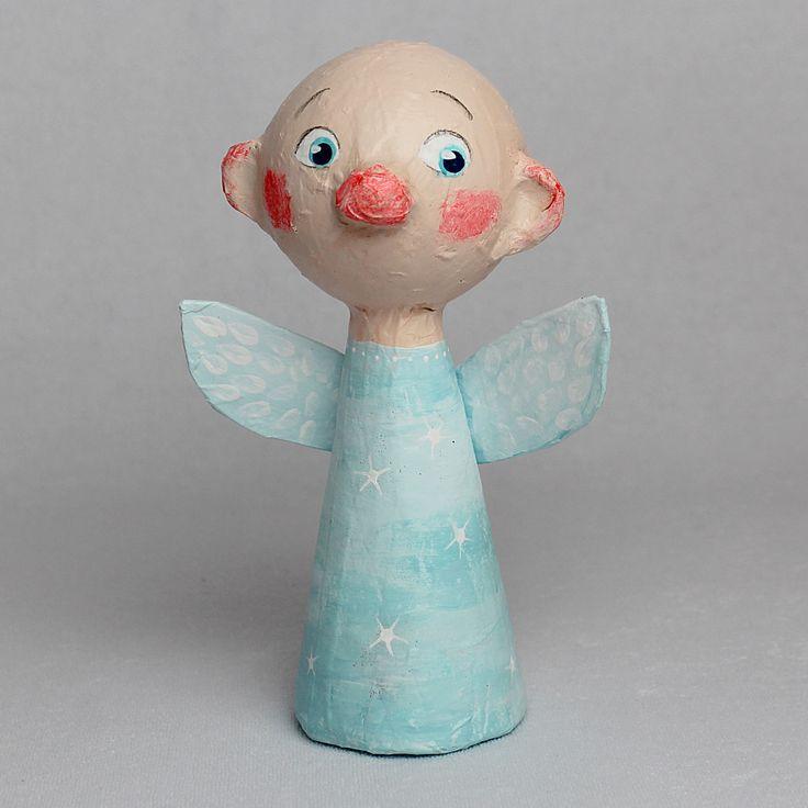 Jeremiah, Little Angel, OOAK Paper Mache Art Doll by CharlotteEngelStudio on Etsy