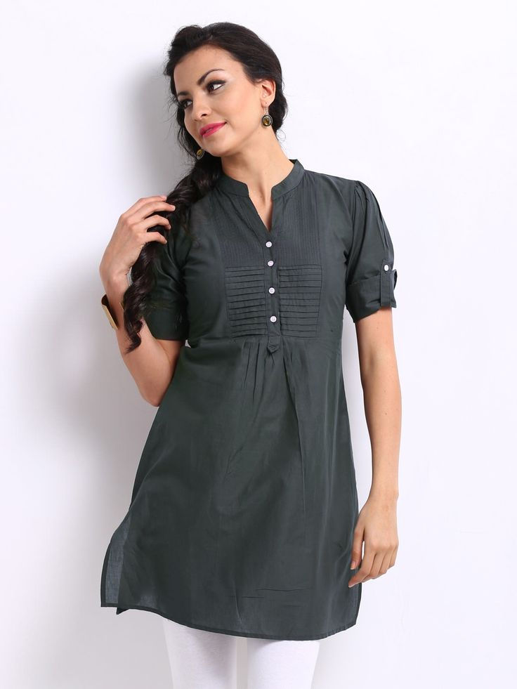 Women Charcoal Grey Kurta