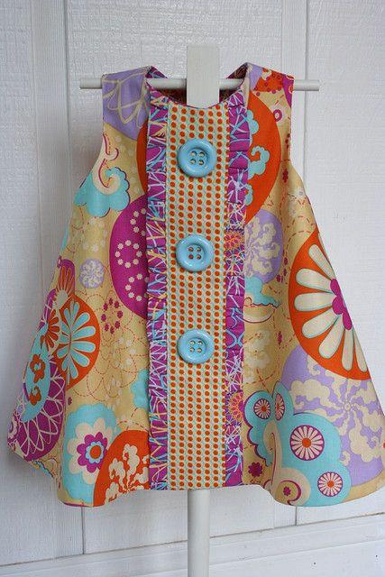 https://flic.kr/p/6Pyem5 | Jewel's new dress | Sugar Snap fabrics.