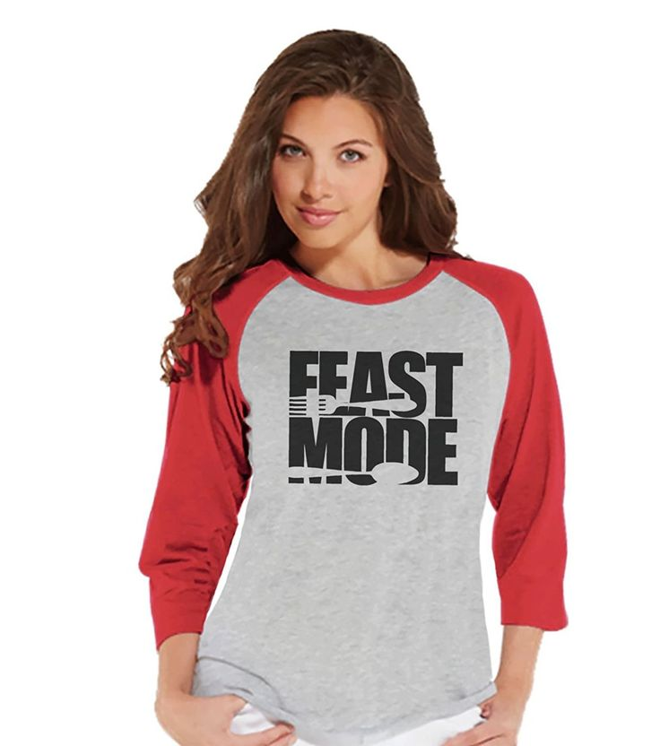 Custom Party Shop Women's Feast Mode Thanksgiving Raglan