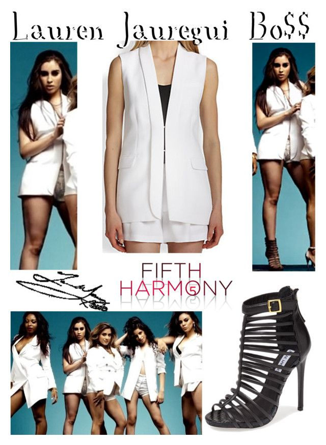 """""""Lauren Jauregui    Bo$$    Outfit #1"""" by maryanarivera ❤ liked on Polyvore featuring Avenue and Steve Madden"""