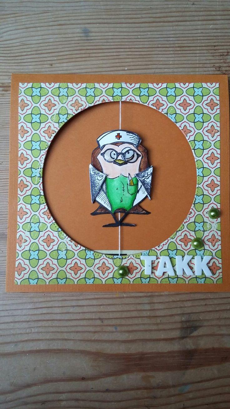 Crasy birds thank you card