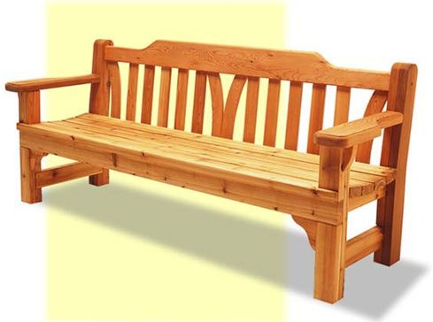 DIY: English Garden Bench. An elegant yet traditional piece, this English garden bench features design modifications that make it a good project for varying levels of woodworking expertise.
