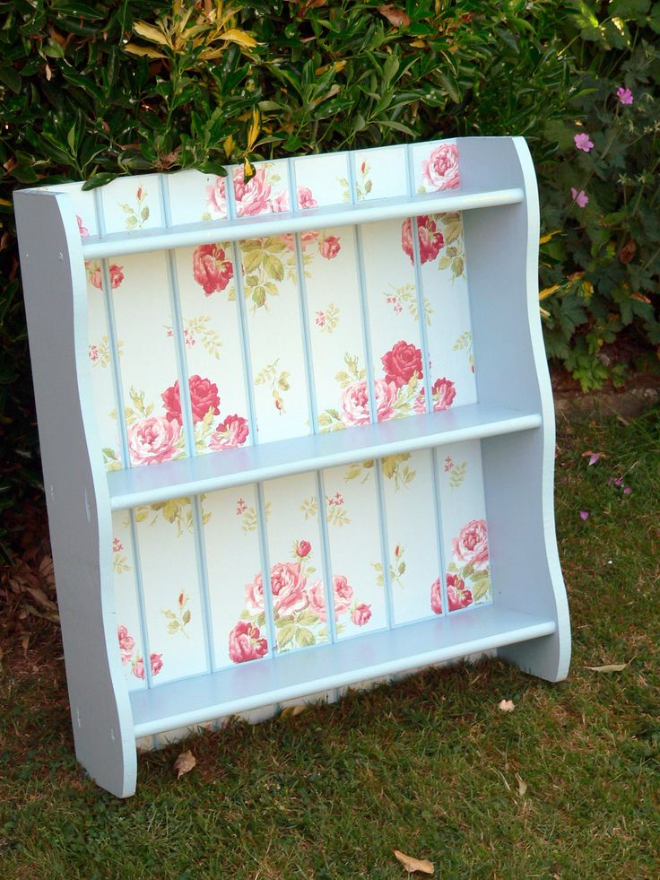 Cath Kidston book case / could do this with an old spice rack, too...could hold paints, rubber stamps or jars of embellies