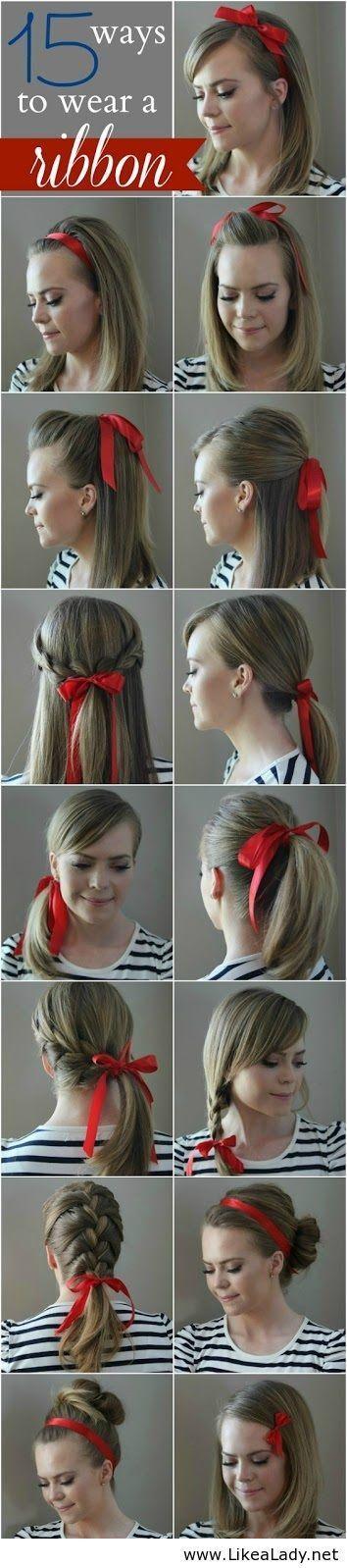 Nouveau tutoriel, Tuto coiffure avec ruban cheveux se coiffer avec un simple ruban de façon original sur cheveux courts, longs, mi longs, en chignon.