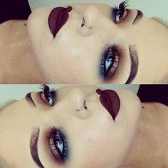 Makijaż - ciemne usta