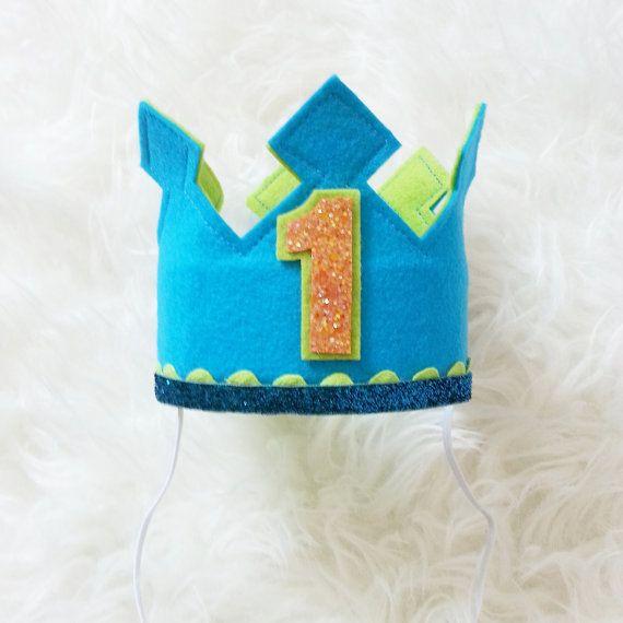 Birthday Boy Cake Smash Set birthday crown by Kutiebowtuties