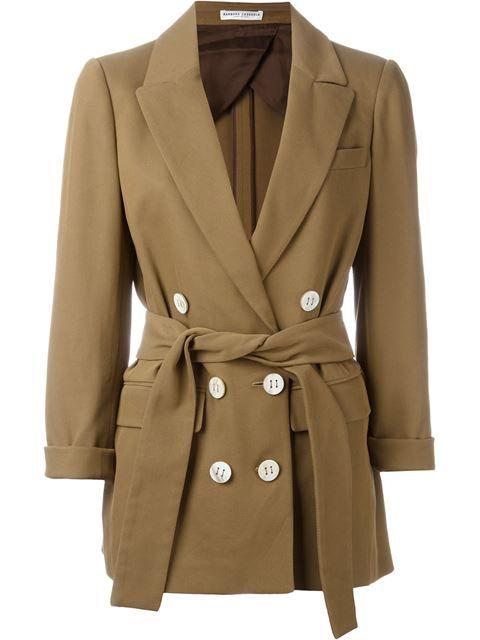 BARBARA CASASOLA belted blazer. #barbaracasasola #cloth #blazer
