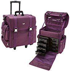 Check out this SHANY Rebel Alpha Pro professional makeup train case. This rolling makeup train case is large enough to store your entire makeup collection!